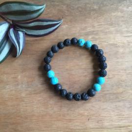 Magnesiet blauw armband 8mm