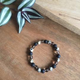 Aarding & Reiniging lava-armband 8mm