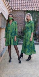 lang groen kleedje june flower groen(rechts)