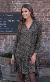 kort kleedje june kleur kaki -leopard