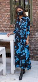 lang kleedje blauw june flower turquoise