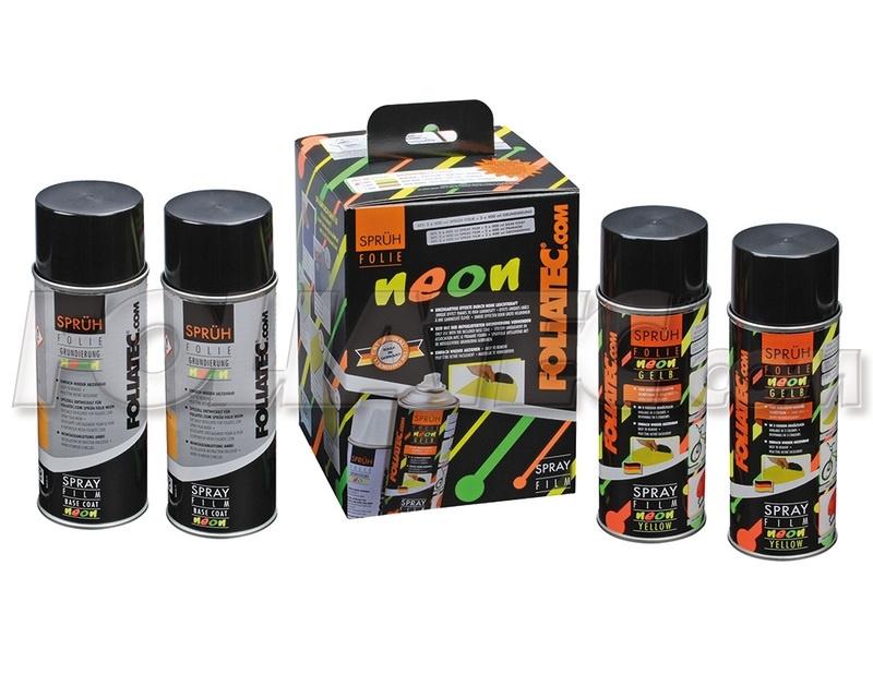 Spray folie neon groen (dubbele set)