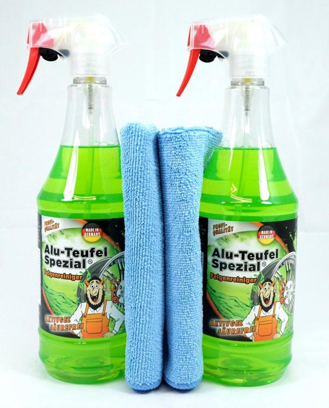 2 x 1L Alu-Duivel-Speciaal® + 2 microvezeldoeken