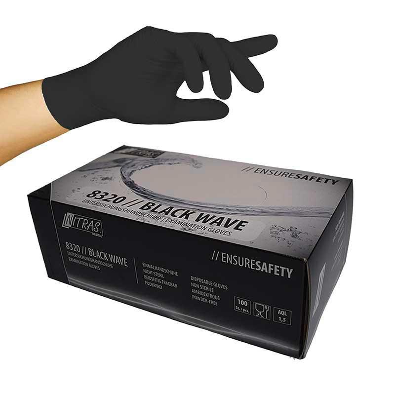 Nitrile black wave handschoenen 100 stuks XL