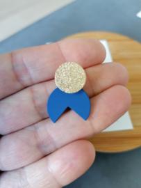 Pipa (goud-blauw)