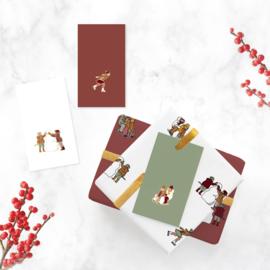 Minikaart | Kerst winterpret | 3 stuks