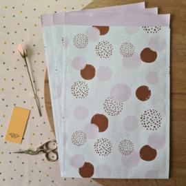 Dots roze | 3 stuks | L