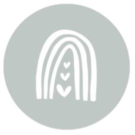 Regenboog sage | 10 stickers