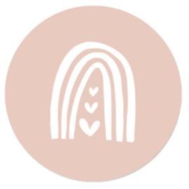 Regenboog roze | 10 stickers