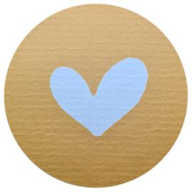 Hart okergeel - wit   10 stuks