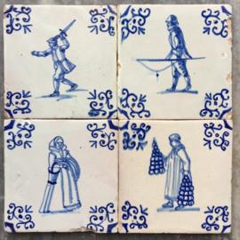 Set van vier figuren