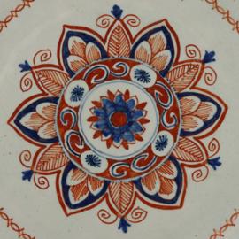 Bord met bloem decor, Lambertus van Eenhoorn