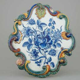 Florale plaquette in Rococo