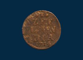Zeeland: duit 1714