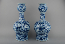 A set of two Delft vases