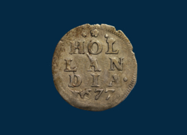 Holland: double penny 1677