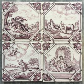 Vier mythologische tegels