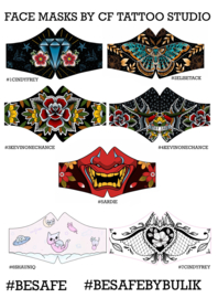 MONDMASKERS TATTOO-ARTISTS CINDY FREY / 3 stuks