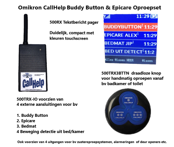 Buddy Button en Epicare oproepsysteem SET