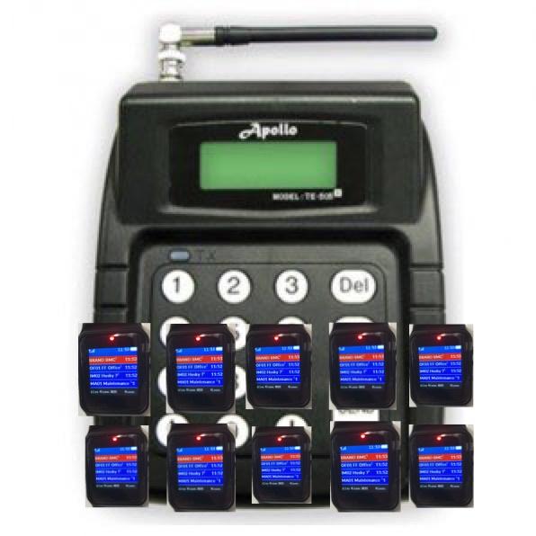 Pocsag  Pager SET 10 stuks  met oproepsysteem