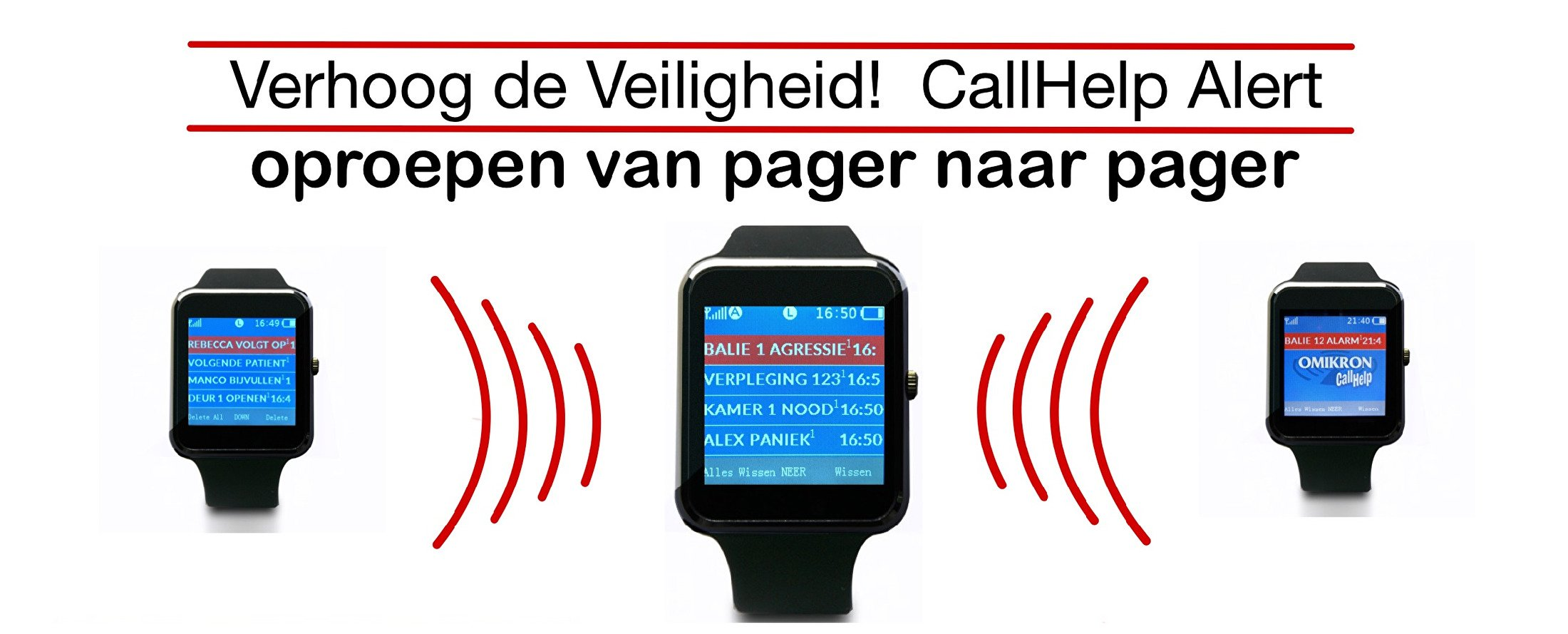 Homepage CallHelp Alert