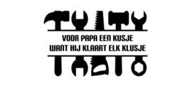 Sticker voor gereedschapskist