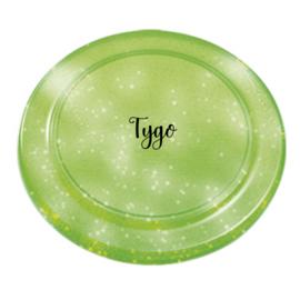 Glitter frisbee groen