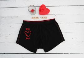 Valentijn boxershort gepersonaliseerd met naam of namen