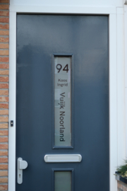 Voordeur sticker gepersonaliseerde transparante raamfolie