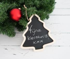 Kerstboom krijtbord hanger