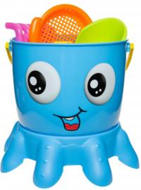Emmer set Octopus blauw met naam