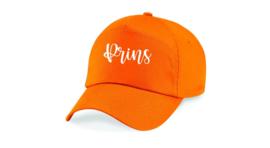 Oranje cap / pet met naam of tekst