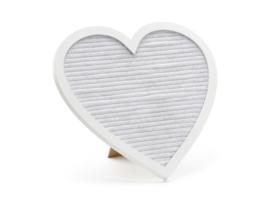 Welkom letterbord hart