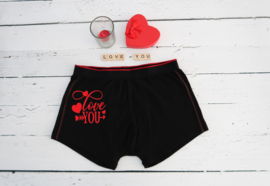 Valentijn boxershort love you