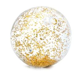 Strandbal glitter goud