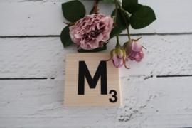 Scrabble letter van hout