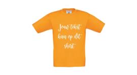 T-shirt kind met jouw eigen tekst