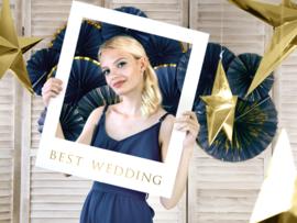 Bruiloft photobooth set polaroidframe DIY (ook te personaliseren)