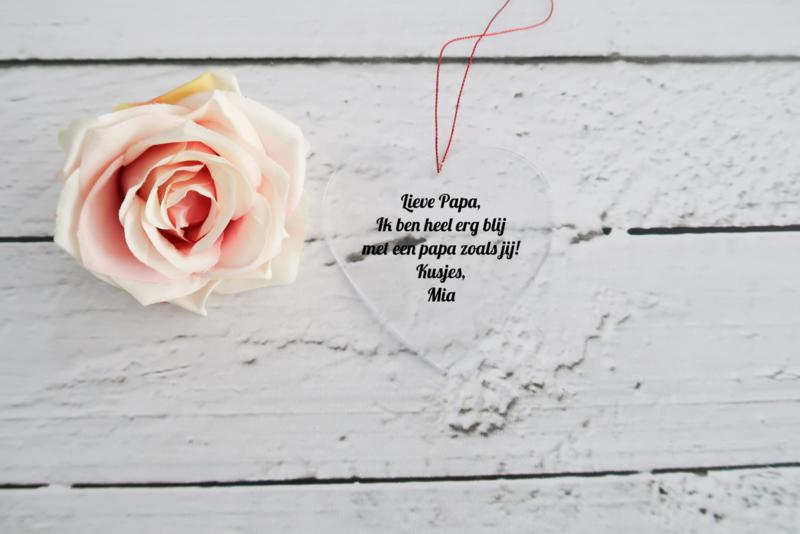 Plexiglas hart met eigen tekst