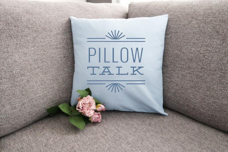 Kussen pillow talk