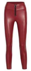 Legging Fantasie fashion | lederlook | rood | YM