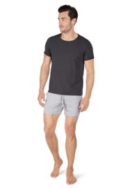 Heren T-shirt sloungewear zwart   korte mouwen