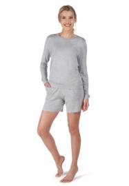 Slaap shirt light grey Huber | 24 hours women sleep