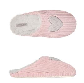 Pantoffels dames pink hart | Slippers extra zacht