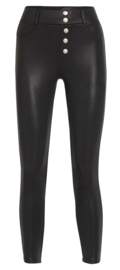 Legging Fantasie fashion | lederlook | mini me | zwart | YM