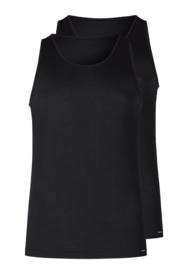 Tank top 2-pak zwart | korte mouwen Multi pack