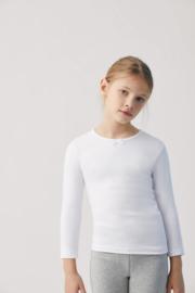 T- shirt met strikje kind lange mouwen| Wit | 100% katoen YM