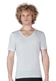 Shirt V-hals 2-pak wit | korte mouwen Multi pack