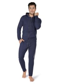 Hoodie smokey blue melange | Sloungewear