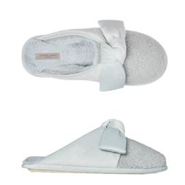 Pantoffels dames blauw strik | Slippers extra zacht